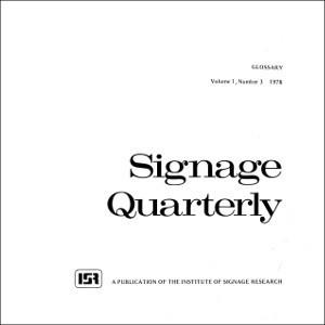 Signage Quarterly – Vol 1 – No 3 – 1978 Glossary