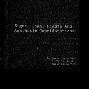 Signs, Legal Rights and Aesthetic Considerations (1972)